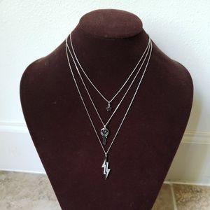 Henri Bendel Lenox Lightning Triple Necklace